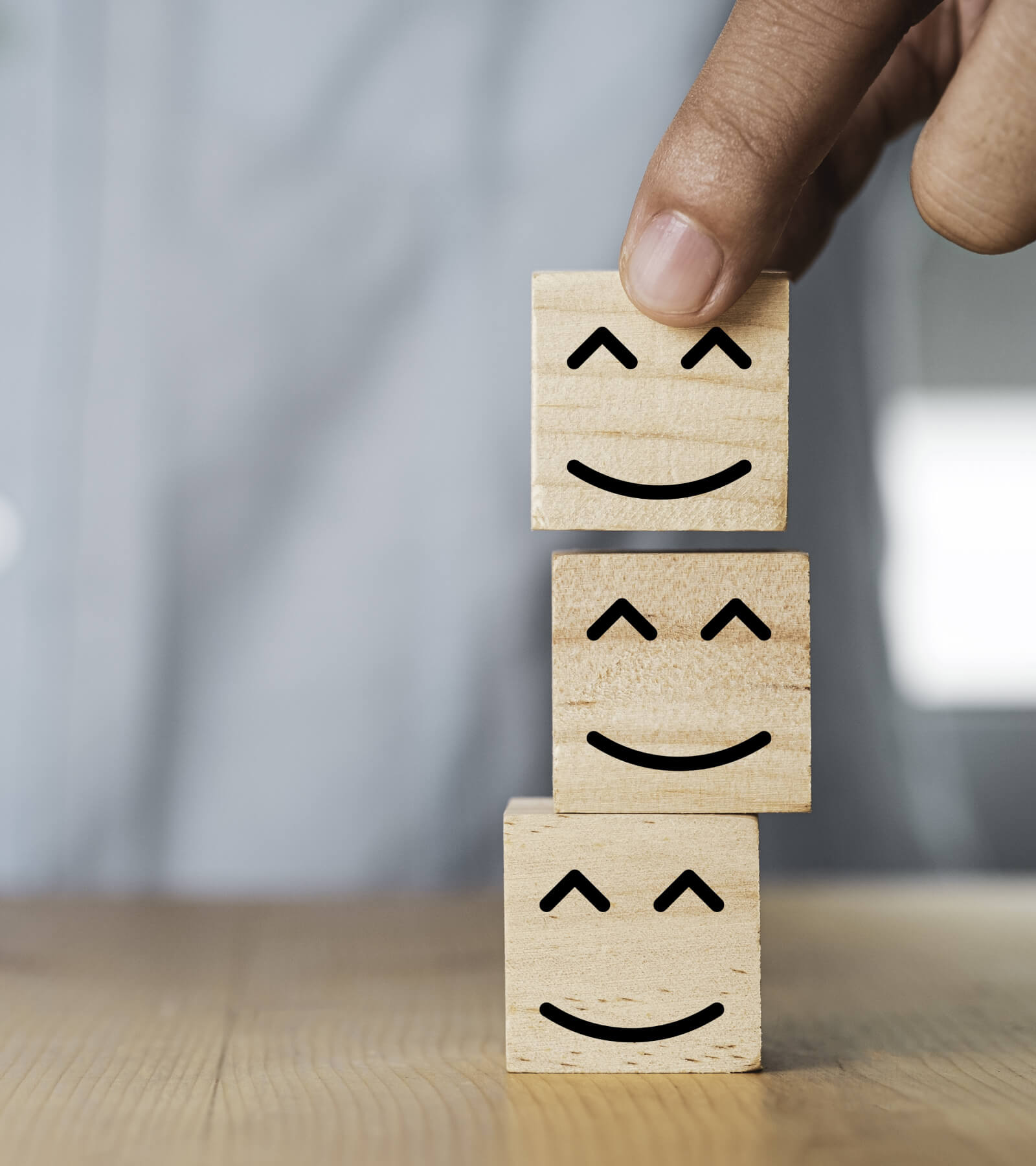 A smiling box with a smile which indicates customer satisfaction